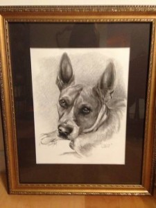 """Cleo"" framed"